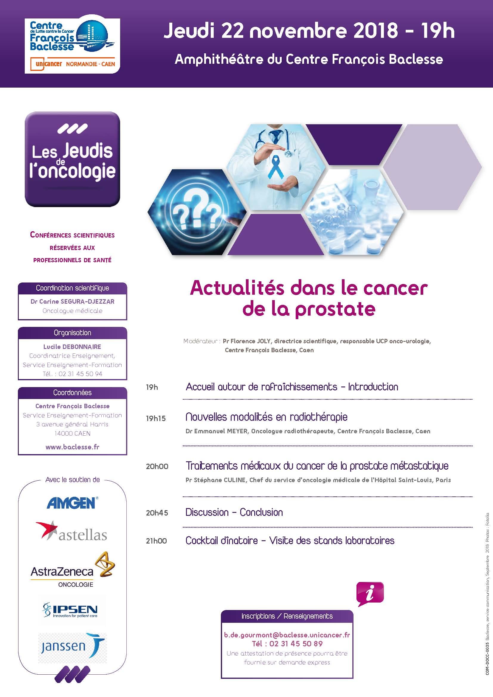 Actualités dans le cancer de la prostate - OncoNormandie Réseau ...