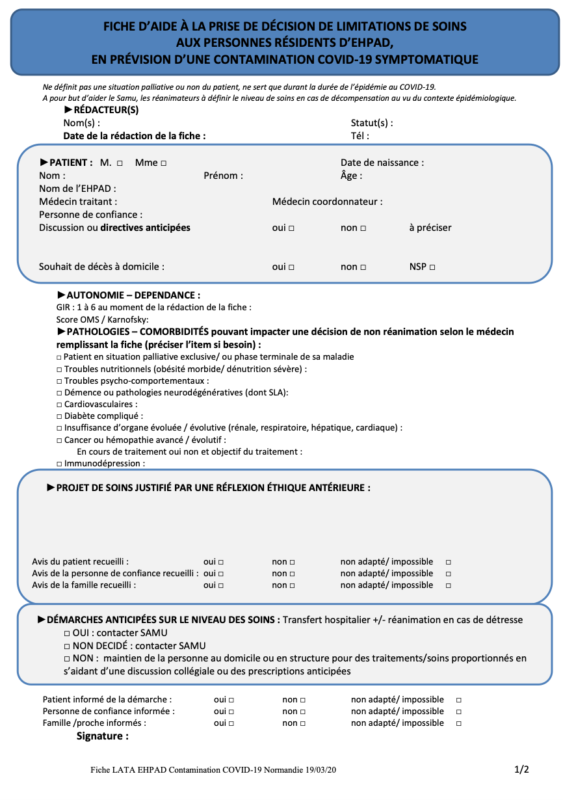 fiche aide EHPAD